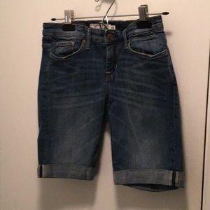 Women's H&M Denim Knee Length Shorts size 27